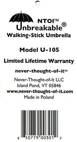 NTOI® Unbreakable® Walking-Stick Umbrella Premium U-105
