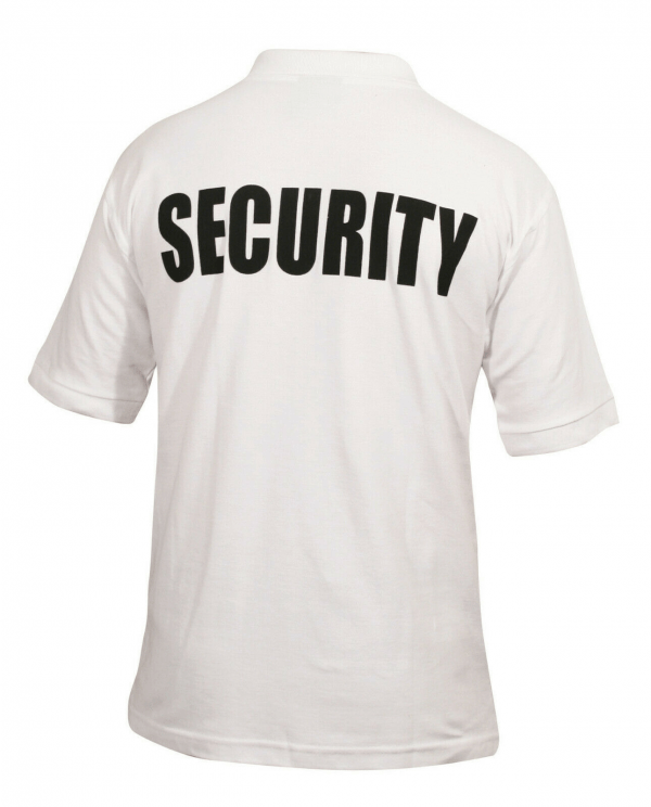 Security Doorman White Polo Shirt