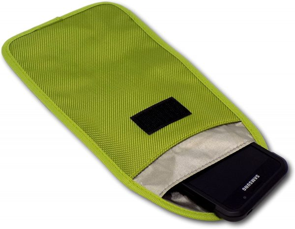 Minder Signal Blocker RFID Blocking Pouch Keyless Entry Car Keys Mobile Phones - Lime Green